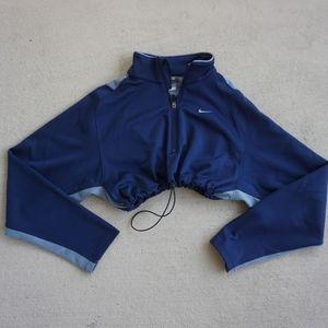Vintage nike crop drawstring sweatshirt